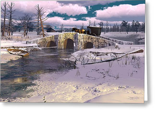 The Rhythm Of Frost Greeting Card by Dieter Carlton