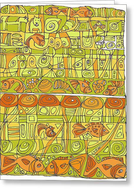 The Rhythm Of Things Greeting Card by Linda Kay Thomas