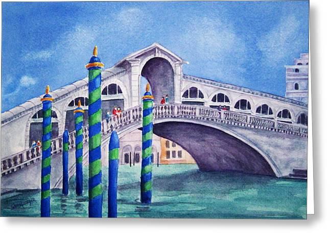 The Rialto Bridge Greeting Card