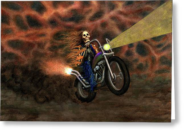 The Ride Out Of Bardo Greeting Card by Bobby Beausoleil