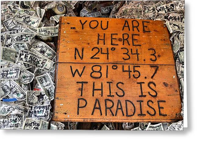 The Right Coordinates Greeting Card by JAMART Photography