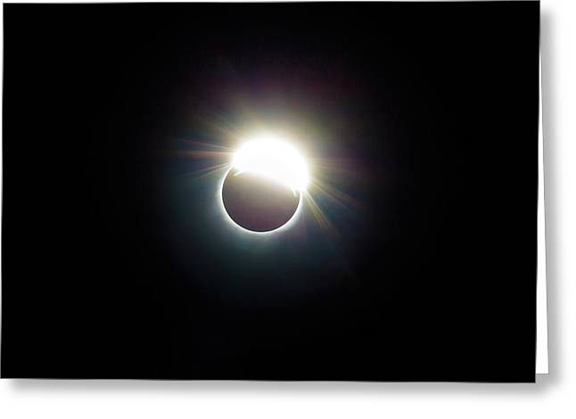 The Ring Of 2017 Solar Eclipse Greeting Card by David Gn
