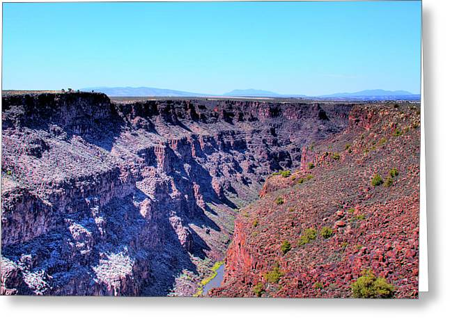 The Rio Grande Gorge Greeting Card by David Patterson