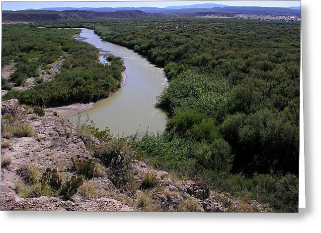 Greeting Card featuring the photograph The Rio Grande River by Karen Musick