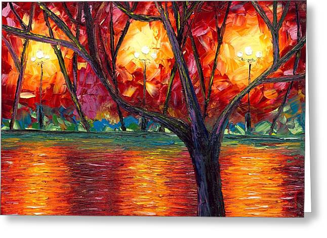 The Rise Of Fall Greeting Card by Jessilyn Park