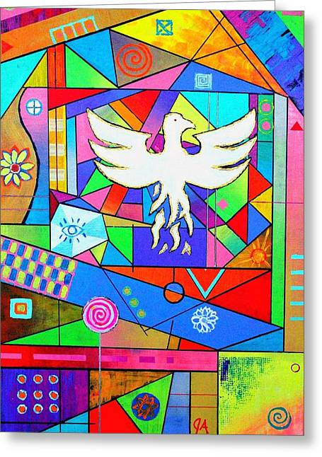 The Rise Of The Phoenix Greeting Card by Jeremy Aiyadurai