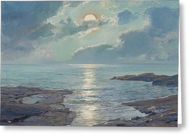 The Risen Moon Greeting Card by Frederick Judd