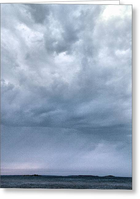 Greeting Card featuring the photograph The Rising Storm by Jouko Lehto