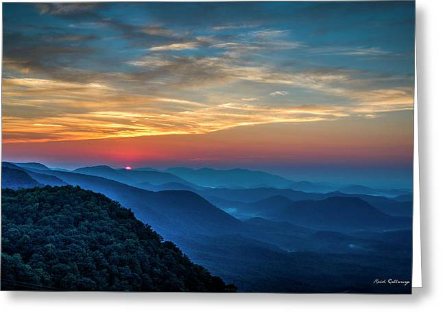 The Rising Sun Pretty Place Chapel Greenville S C Great Smoky Mountain Art Greeting Card