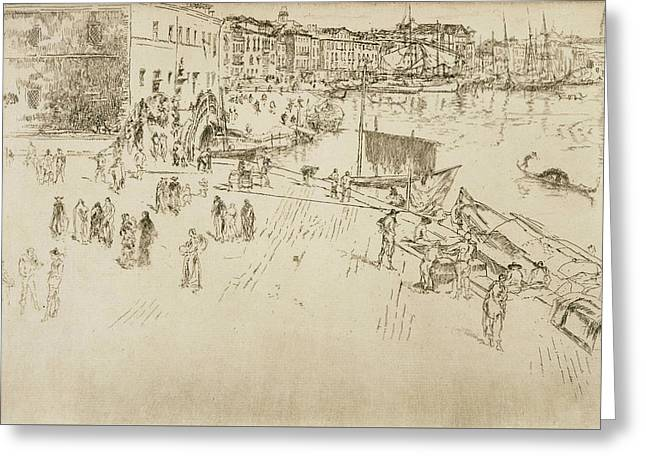 The Riva No 1 Greeting Card by James Abbott McNeill Whistler
