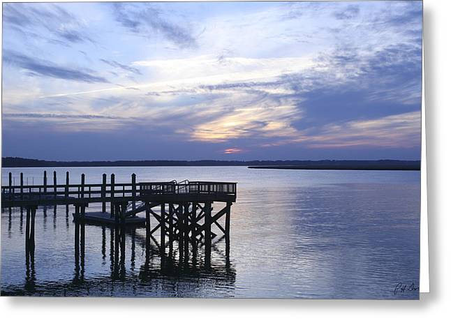 The River At Dusk Greeting Card by Phill Doherty