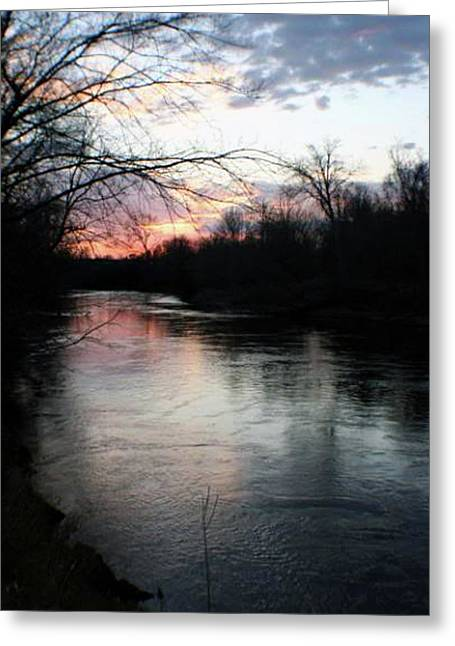 The River At Sunset Greeting Card