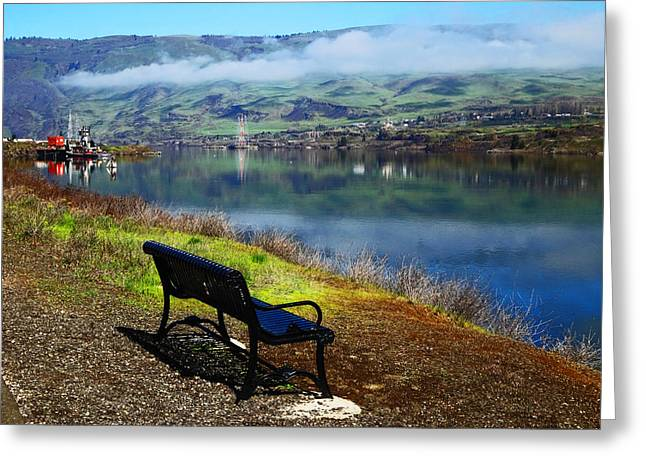 The River Bench Greeting Card