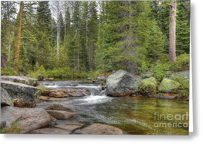 The River Flows Softly Greeting Card