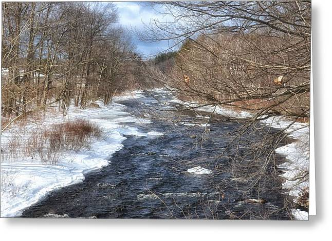 The River In Winter Greeting Card