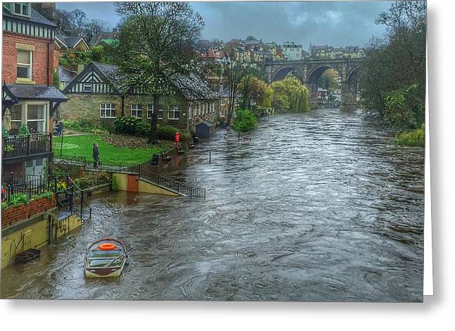 The River Nidd In Flood At Knaresborough Greeting Card by RKAB Works