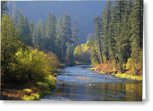 The River Runs Through Autumn Greeting Card