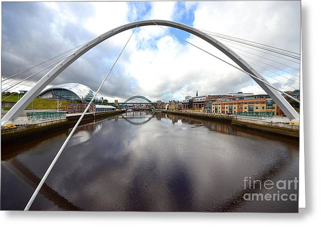 The River Tyne Greeting Card by Nichola Denny