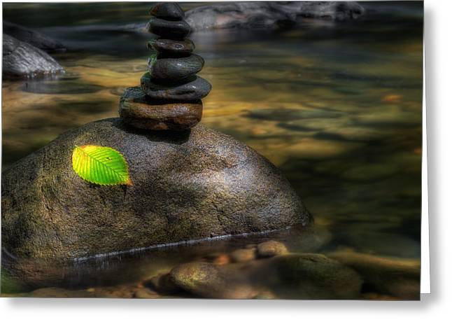 The River Zen Greeting Card by Bill Wakeley