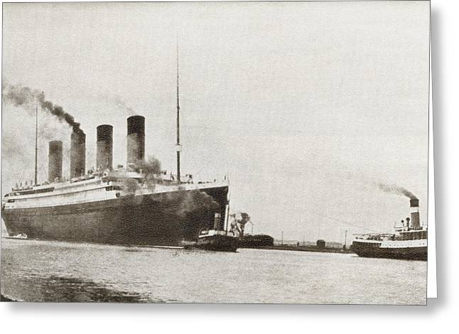 The Rms Titanic Of The White Star Line Greeting Card by Vintage Design Pics