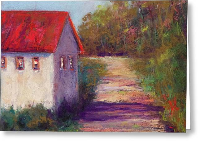 The Road Behind Greeting Card by Joyce A Guariglia