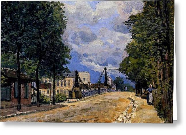 The Road From Gennevilliers Greeting Card