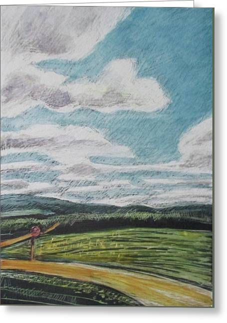 The Road Goes On Greeting Card by Grace Keown