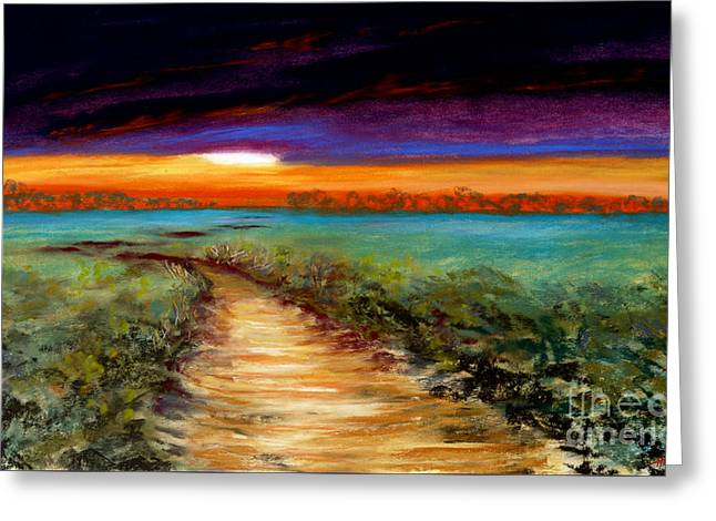 The Road Home Greeting Card by Addie Hocynec
