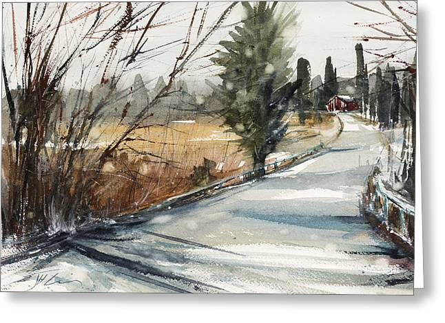 The Road Home Greeting Card by Judith Levins