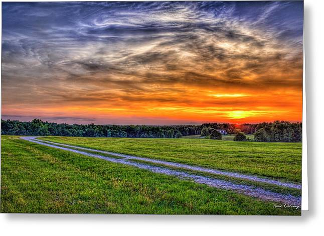 The Road Home Sunset  Country Living Art Greeting Card