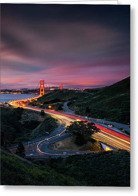 The Road In... San Francisco Greeting Card by Vincent James