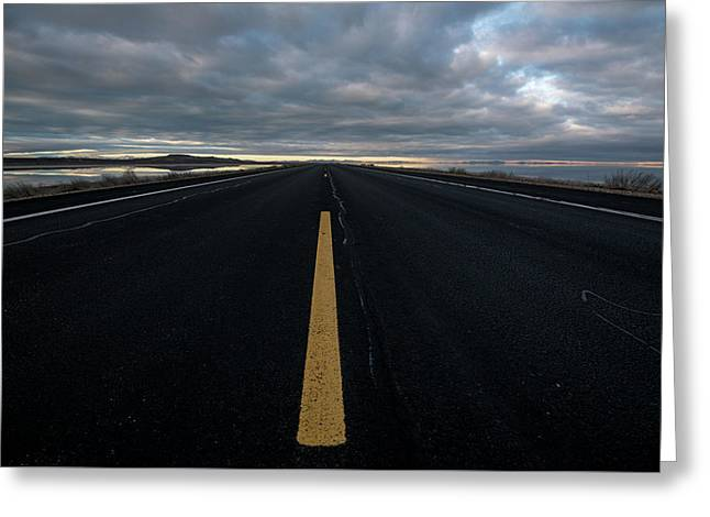 The Road Greeting Card by Justin Johnson