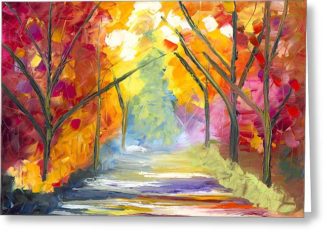 The Road Less Traveled Greeting Card by Jessilyn Park