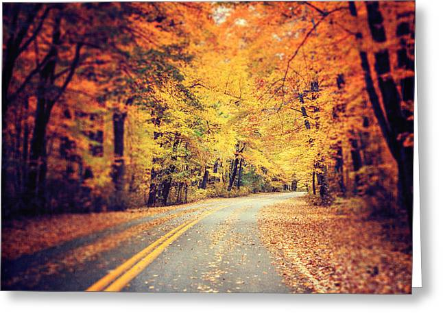 The Road Less Traveled Greeting Card by Lisa Russo
