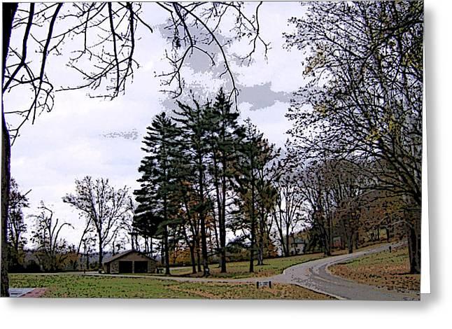 The Road Not Taken Greeting Card by Skyler Tipton
