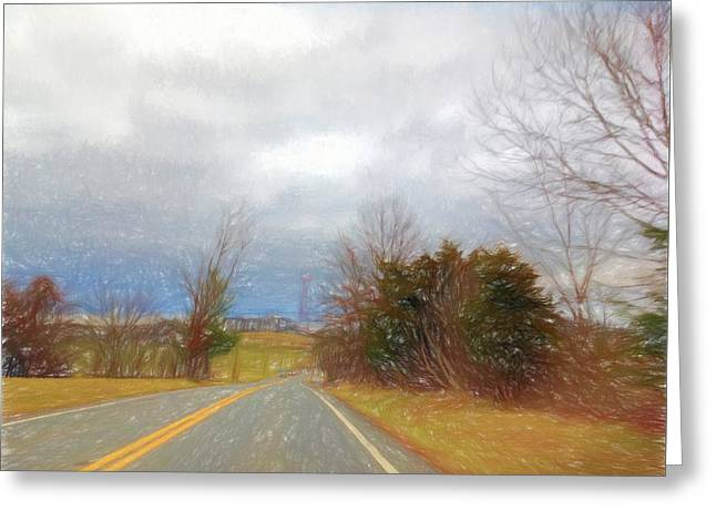 The Road Of New Beginnings Greeting Card