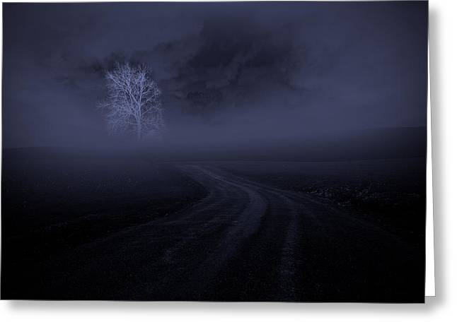 Greeting Card featuring the photograph The Road by Robert Geary
