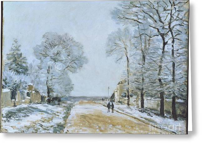 The Road, Snow Effect Greeting Card by MotionAge Designs