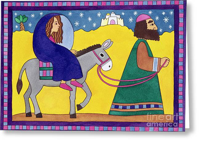 The Road To Bethlehem Greeting Card
