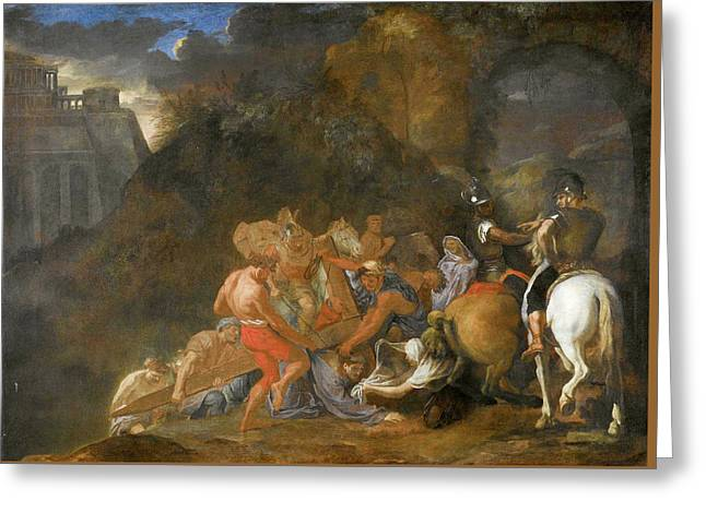 The Road To Calvary Greeting Card by Charles Le Brun