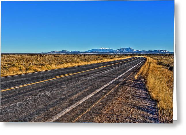 The Road To Flagstaff Greeting Card