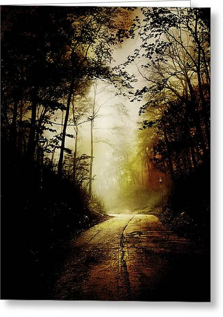 Somber greeting cards fine art america the road to hell take 2 greeting card m4hsunfo Choice Image