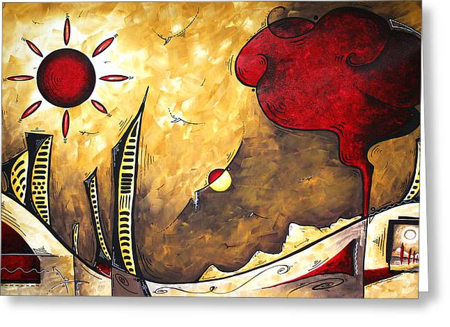 The Road To Life Original Madart Painting Greeting Card by Megan Duncanson