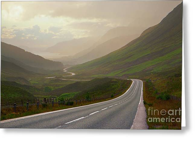 The Road To Loch Maree Greeting Card