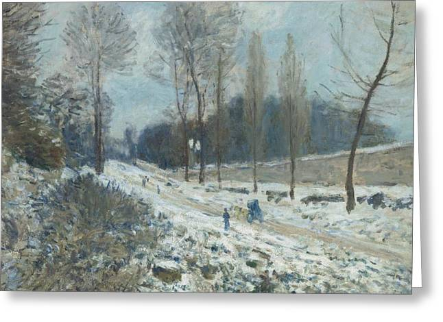 The Road To Louveciennes Greeting Card