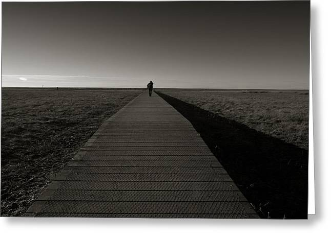 The Road To Nowhere Greeting Card by Angel Ciesniarska