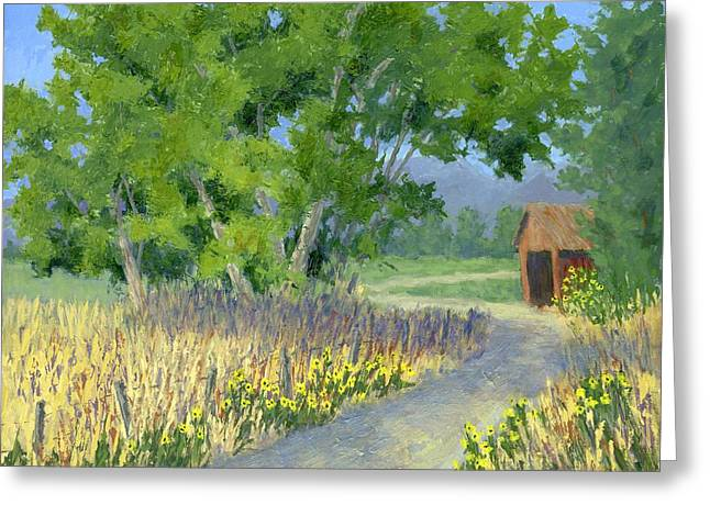 The Road To The Back Field Greeting Card