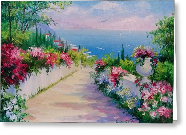 The Road To The Sea Greeting Card
