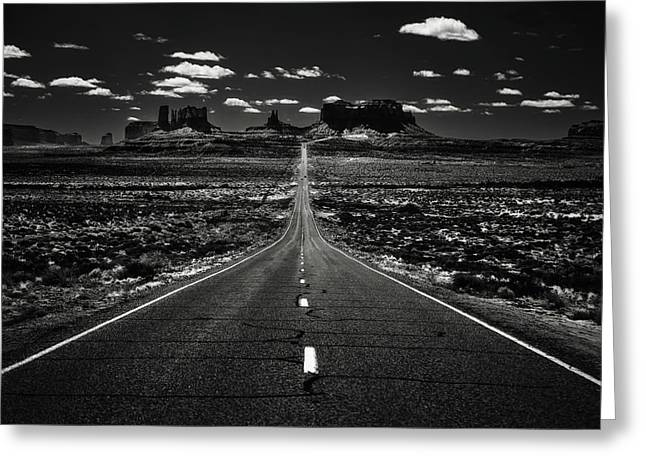 The Road To The West Greeting Card by Eduard Moldoveanu