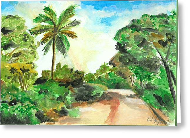 The Road To Tiwi Greeting Card